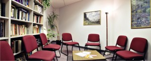 A view of a group therapy area